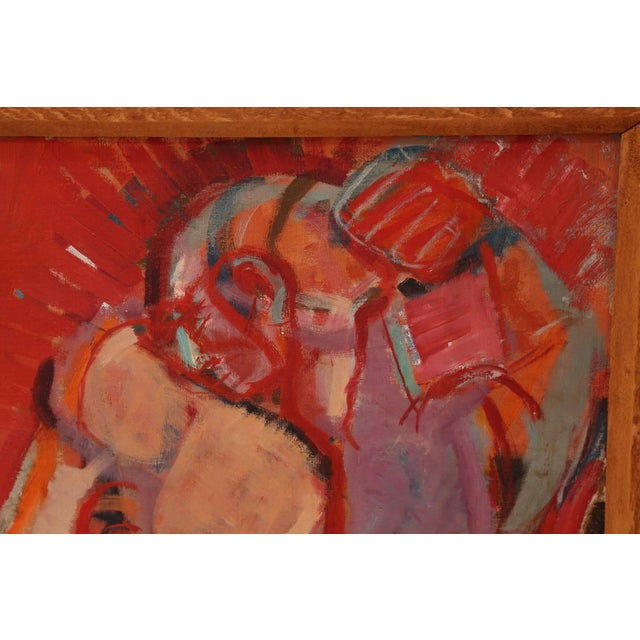 Mid-Century Modern Mother and Child Painting by Shoshannah For Sale - Image 3 of 6