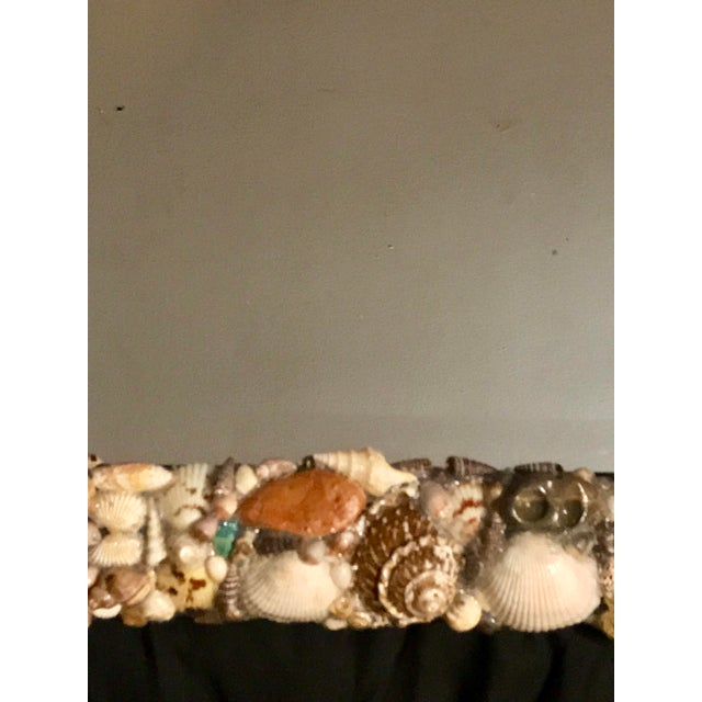 Americana Turquoise and Seashell Embellished Mirror For Sale - Image 3 of 9