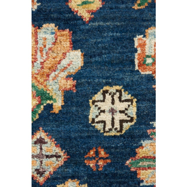 "Blue Hand-Knotted Rug - 5' x 8' 2"" - Image 3 of 3"