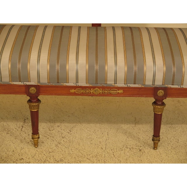 Empire Traditional French Empire Bronze Winged Phoenix Sofa For Sale - Image 3 of 13