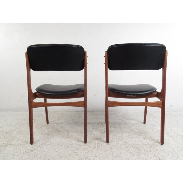Vintage Erik Buch Scandinavian Modern Dining Chairs - Set of 6 - Image 6 of 11