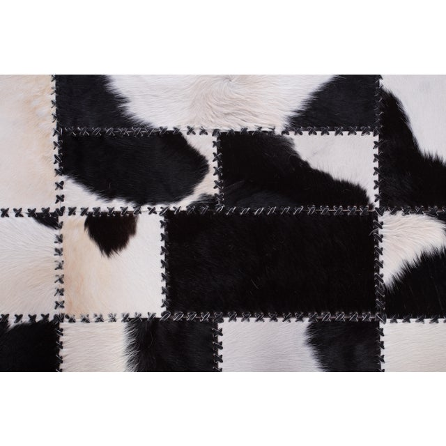 "Aydin Cowhide Patchwork Accent Area Rug - 4'7"" x 8'0"" For Sale - Image 9 of 9"