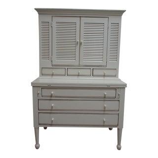 1990s Lexington Furniture De Cristofaro Painted Drop Front Desk For Sale