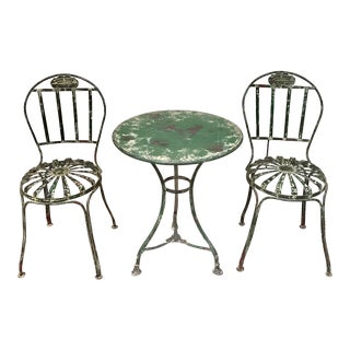 French Iron Bistro Table and Chairs Set