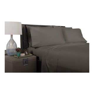 Florence Solid Flat Sheet King - Graphite For Sale