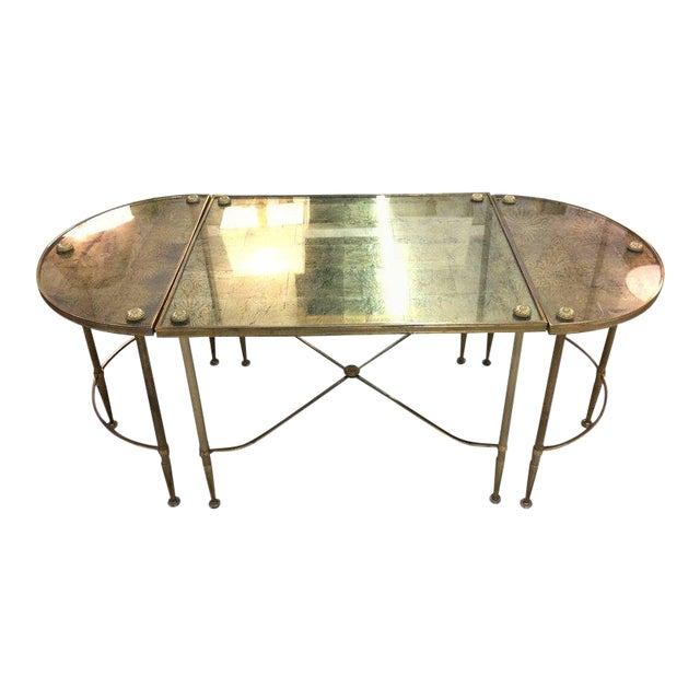 Vintage Oblong Gilded Coffee Table For Sale