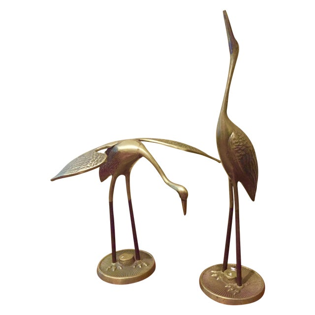 Brass Cranes - A Pair - Image 1 of 11