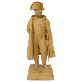Antique 19th C. Figure of Napoleon Bonaparte From London Dealer For Sale