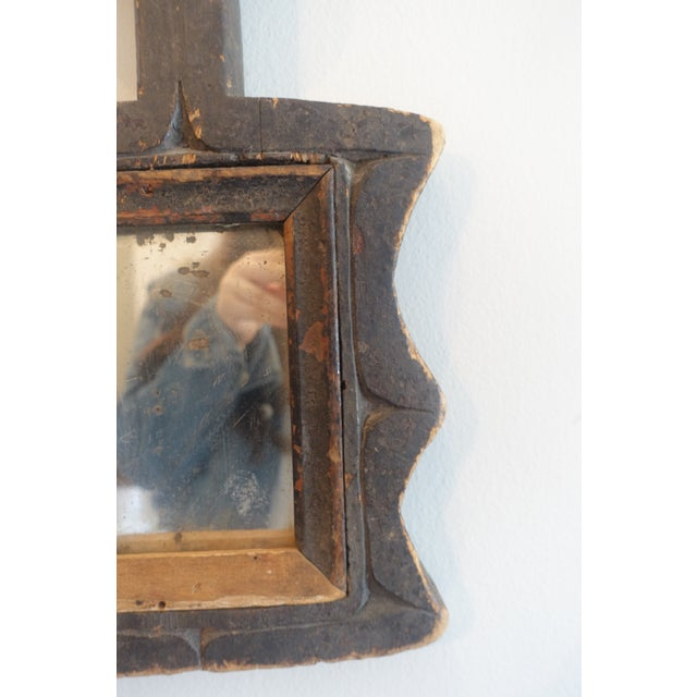 Primitive Wood Mirror For Sale In Los Angeles - Image 6 of 13