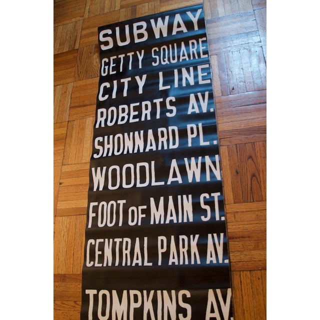 This is a miraculously well-preserved original New York City and Mount Vernon trolley sign likely dating to the 1920s or...