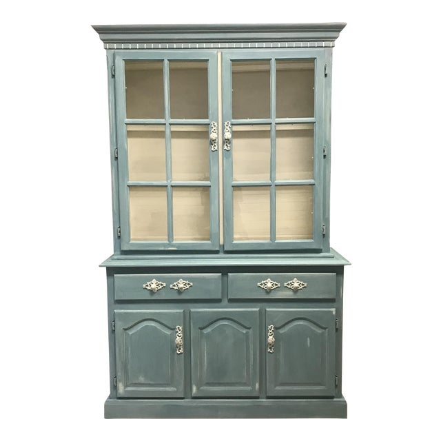 "Blue French Provincial ""Annabel"" China Cabinet - Image 1 of 11"