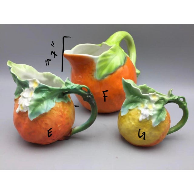 Mid-Century Royal Orange Citrus Blossom Porcelain International Serveware - Image 10 of 11