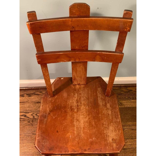 Primitive Pair of Cherrywood Side Chairs in the Manner of Jean Touret For Sale - Image 10 of 11