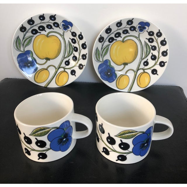 Arabia Finland Paratiisi Set of Two Cups Saucers - 4 Pc. - Image 9 of 9