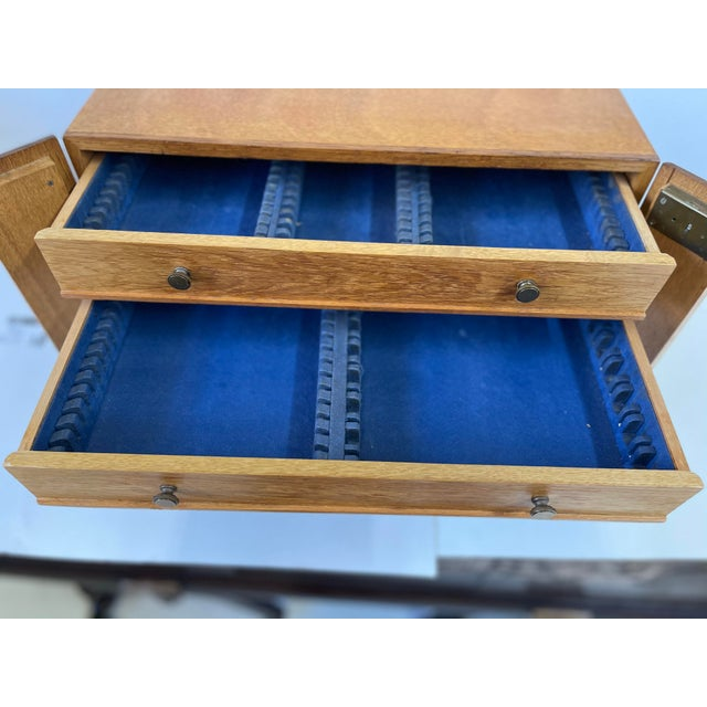 Gold English Campaign Silver Flatware Chest For Sale - Image 8 of 13