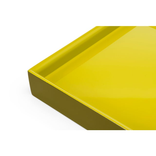 Contemporary Pentreath & Hall Collection Small Tray in Olive Green / Chartreuse For Sale - Image 3 of 4