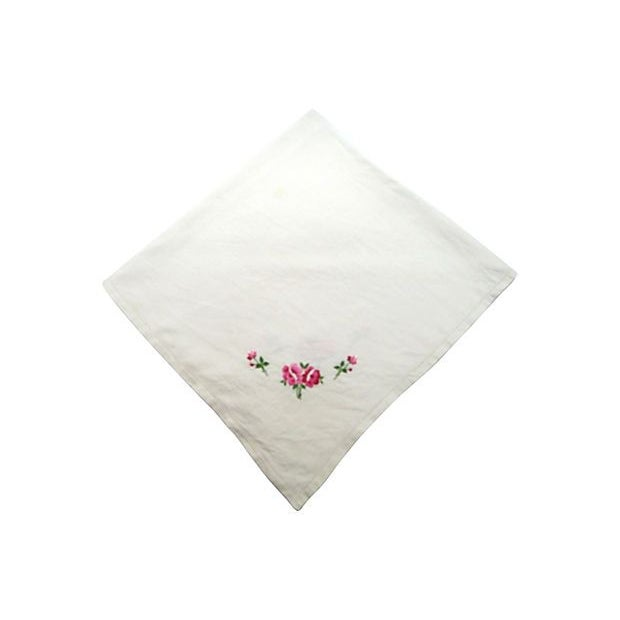 Hand-Embroidered Table Square - Image 1 of 6