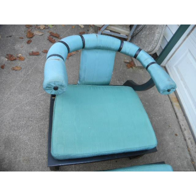 James Mont James Mont Style Asian Lounge Chairs - A Pair For Sale - Image 4 of 11