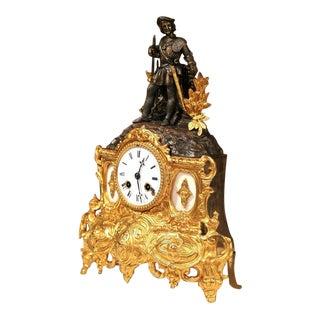 19th Century French Renaissance Style Bronze Doré Mantel Clock