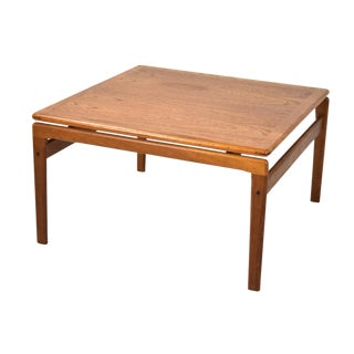 Vintage Danish Modern Floating Top Teak Coffee Cocktail Table For Sale