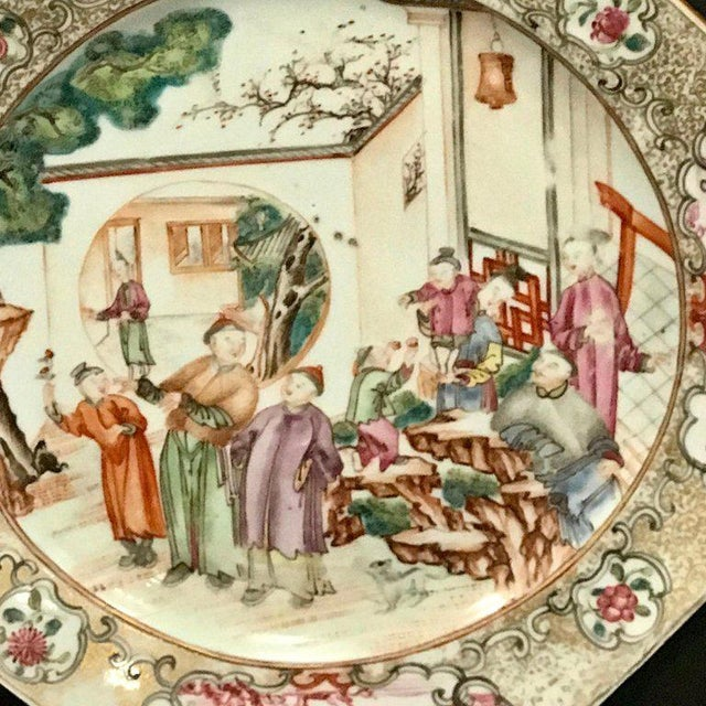 18th Century Chinese Export Famille Verte Octagonal Plate For Sale - Image 10 of 13