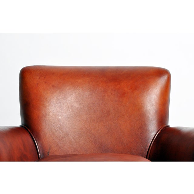 French Leather Armchairs - a Pair For Sale - Image 9 of 13