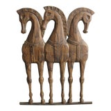 Image of Frederick Weinberg Horses Wall Hanging For Sale