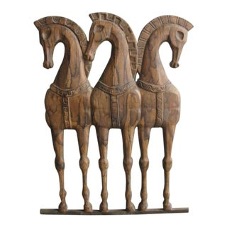 Frederick Weinberg Horses Wall Hanging For Sale