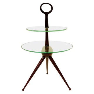 Tripode Side Table in Mahogany by Cesare Lacca, Italy, Circa 1950 For Sale