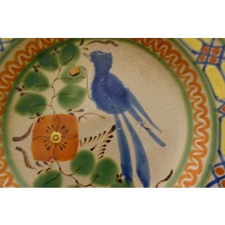 Blue Bird of Happiness Motif Hand Made Pottery Plate Preview