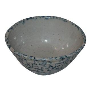 Unusual Mini 19th Century Spongeware Mixing Bowl For Sale