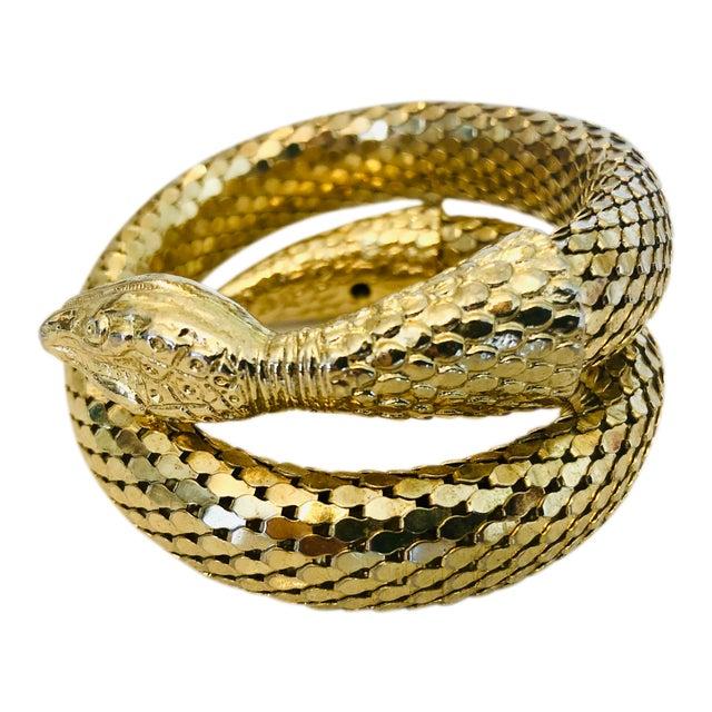 Whiting & Davis Gold Mesh Snake Bracelet For Sale