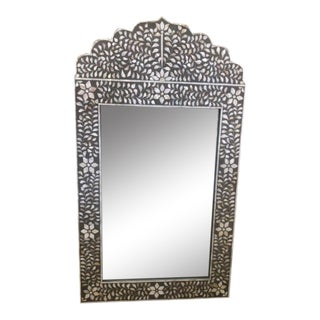 Shell Inlay Lotus Flower Mirror For Sale