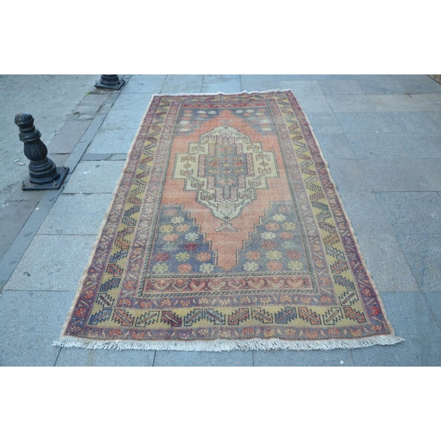 Turkish Tribal Floor Rug - 4′9″ × 8′10″ - Image 2 of 6