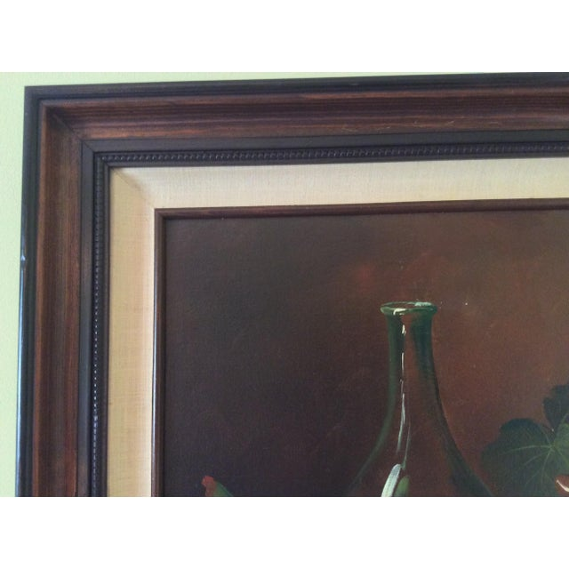 Mid-Century Frank Lean Still Life in Oil For Sale - Image 9 of 13