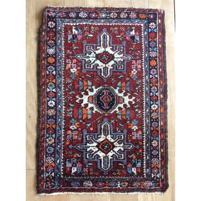 1930s-1940s Karaja Persian Mat For Sale - Image 13 of 13