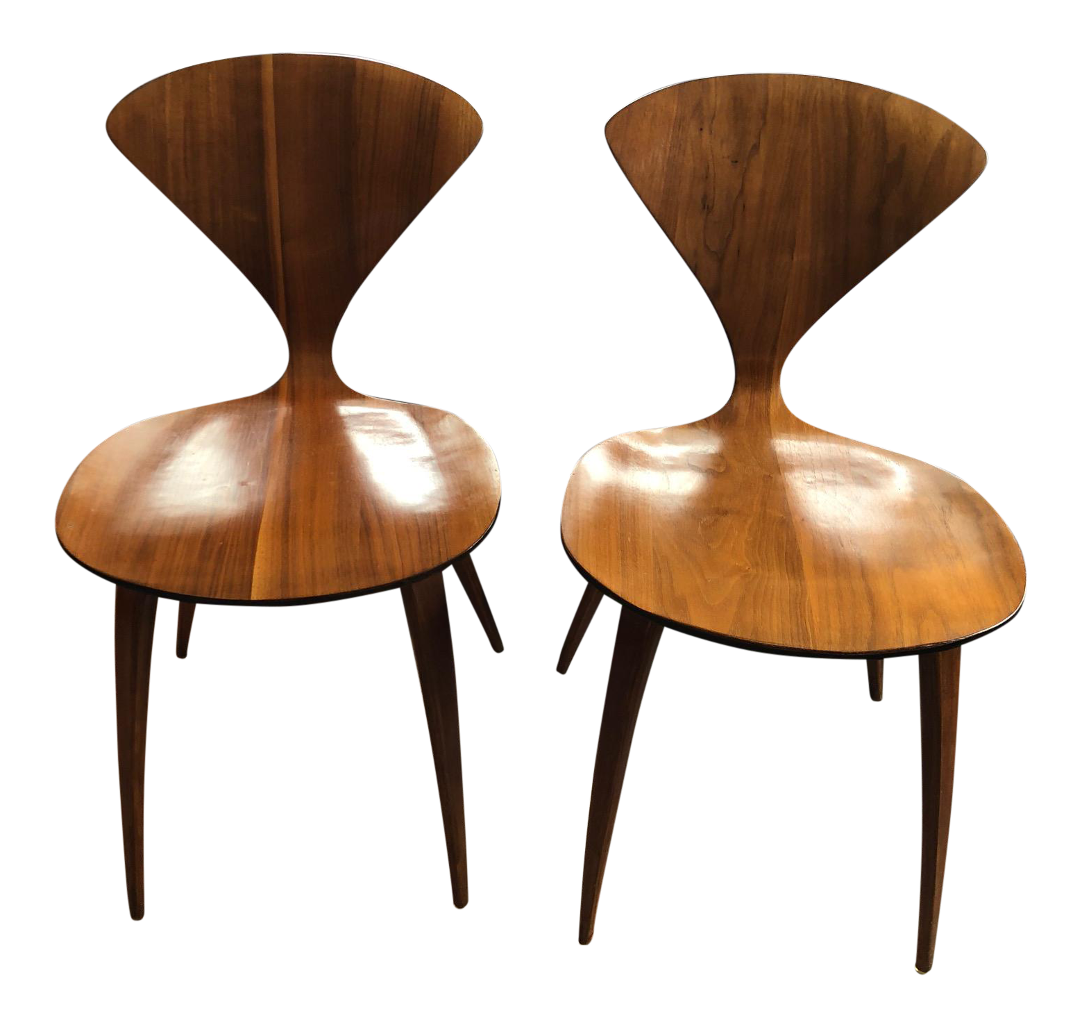 cherner furniture. Norman Cherner For Plycraft Side Chairs - A Pair Furniture