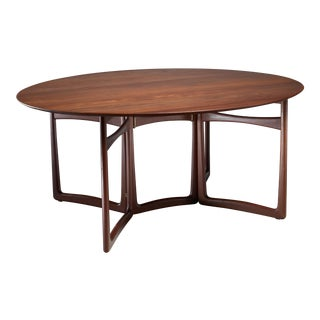 Peter Hvidt Drop-Leaf Desk or Dining Table, Denmark, 1960s For Sale