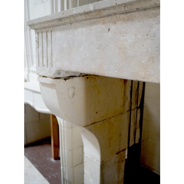 17th Century 17th Century Limestone Fireplace For Sale - Image 5 of 6