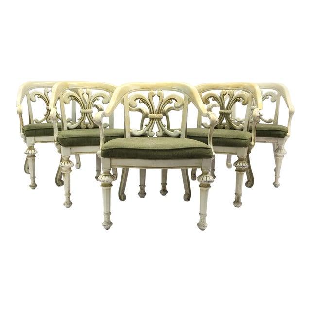 Dorothy Draper Kessler Cast Aluminum Patio Dining Chairs - Set of 5 - Image 1 of 8