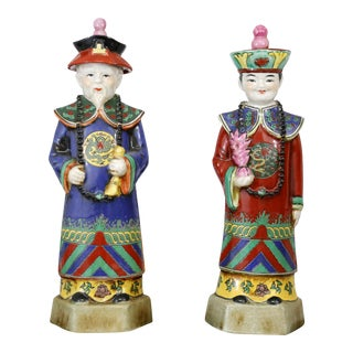 Hand-Painted Royalty Figures - A Pair