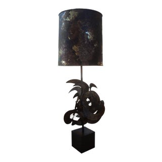 1960s Curtis Jere Brutalist Torch Cut Lamp For Sale