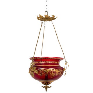 Mid 19th Century Red Russian Lantern For Sale