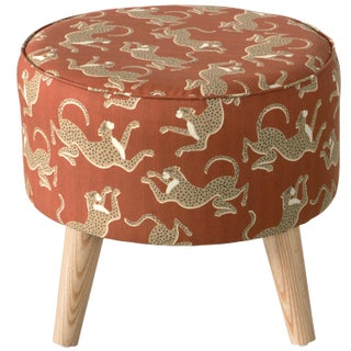 Leopard Run Burnt Orange Ottoman Preview
