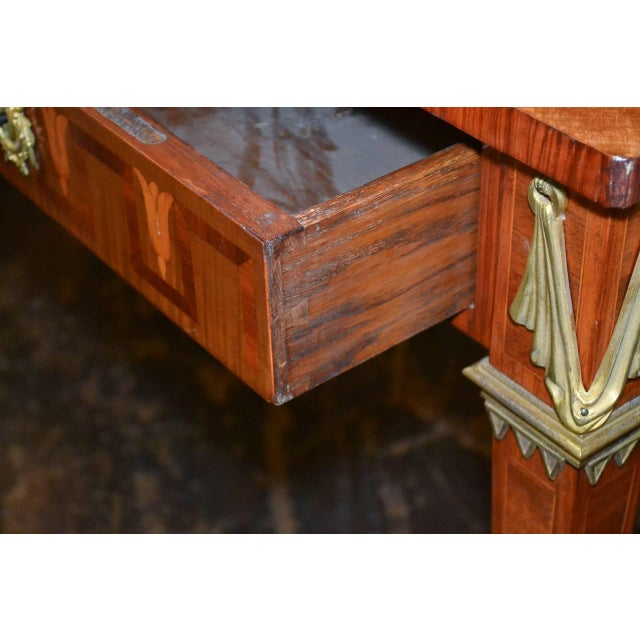 French Transitional Parquetry Inlaid Desk For Sale - Image 9 of 10