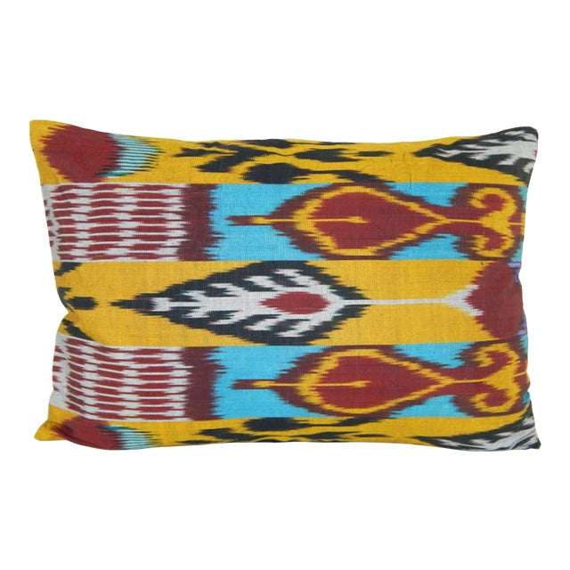 Vintage Ikat Colourful Pillow For Sale