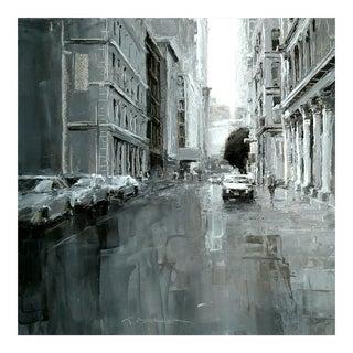 """Beckham Contemporary Framed Street Scene """"Grand Street"""" For Sale"""