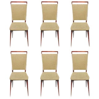 Beautiful Vintage French Art Deco Rosewood Dining Chairs - Set of 6 For Sale