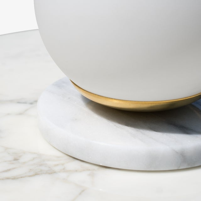 Artifact Accent Light in Carrara Marble by Object Refinery For Sale - Image 4 of 5