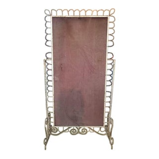 French Metal Victorian Mirror Frame For Sale